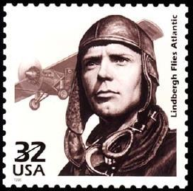 The Perforated Press Lucky Lindy Charles Lindbergh was born in 1902 in Michigan. His family moved to Minnesota where his father served as congressman.