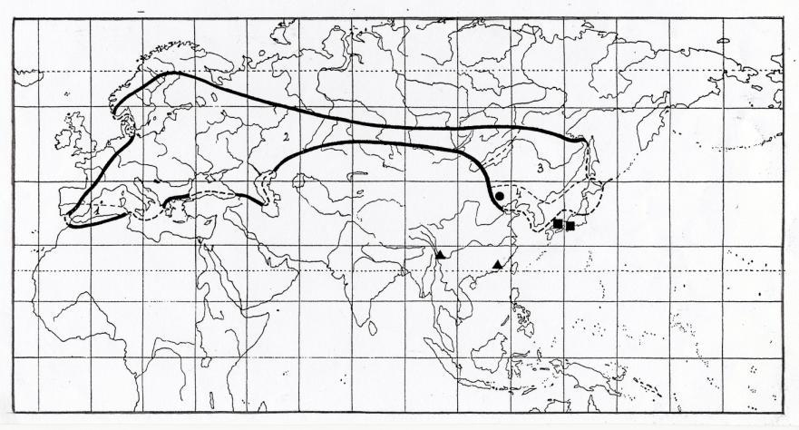 46 Mun. Ent. Zool. Vol. 1, No. 1, January 2006 Map 5. Distribution of the genus Poecilonota Esch. Map 6.