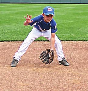 FIELDING (10 MINUTES) FIELDING REVIEW 4.1 Creeper Steps 4.2 Bend Knees / 4.3 Glove Out-Front 4.4 Receive / Suck / Lower Torso Funnel / Move 5.1 5.2 2 1 4.