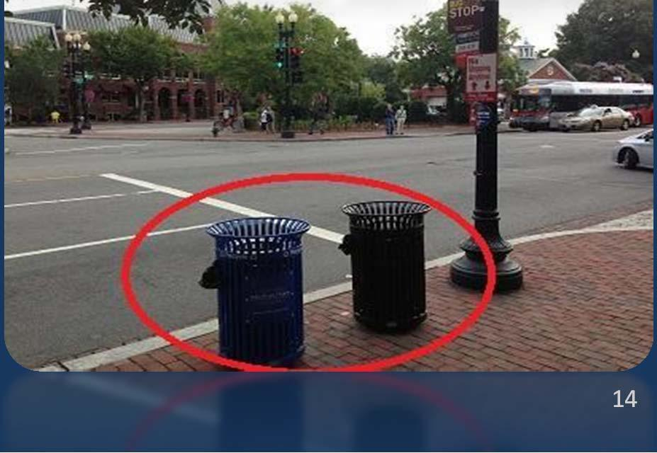 The District of Columbia and Prince George s County were the only two jurisdictions to rate trash cans as a
