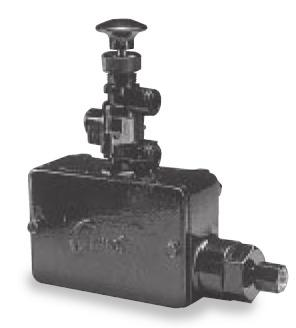Pressure Sensing Valve - Model 4023 Overview AMOT Model 4023 can be used as a 2 or 3-way capacity, pressure sensing valve.
