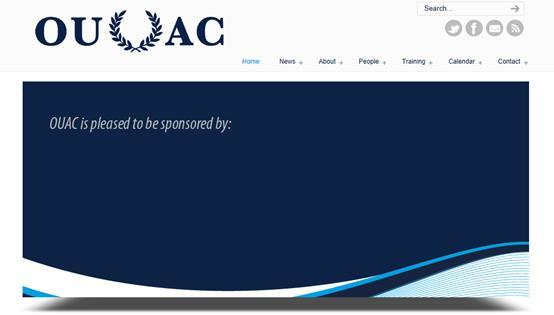 Website The OUAC website is the first port of call for all those seeking information about competitions, training and athlete