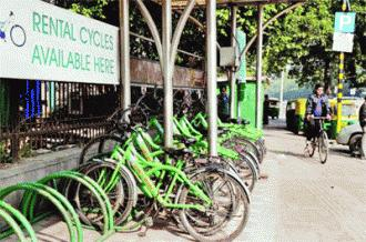 NMT- Bicycle sharing system Delhi has a high mode share of walking and cycling trips