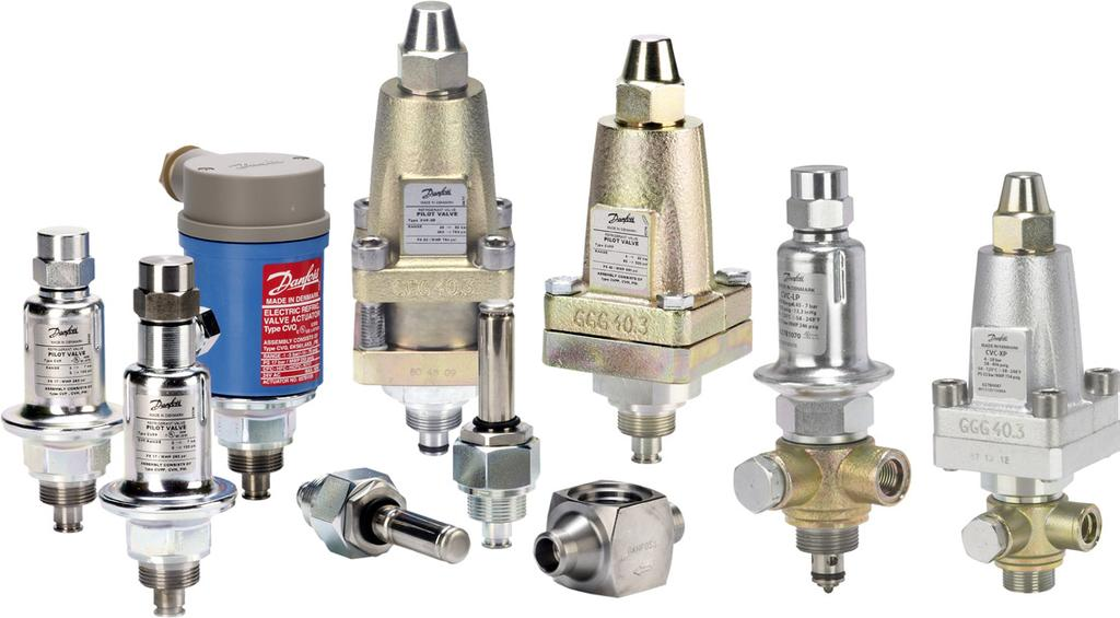 Data sheet Pilot valves for pilot operated servo valves The range of pilot valves consists of: Constant-pressure pilot valve, type CVP (LP) and CVP (HP) Differential-pressure pilot valve, type CVPP