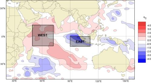 Indian Ocean Dipole (IOD) The Indian Ocean Dipole (IOD) is a coupled ocean and atmospheric phenomenon in the equatorial