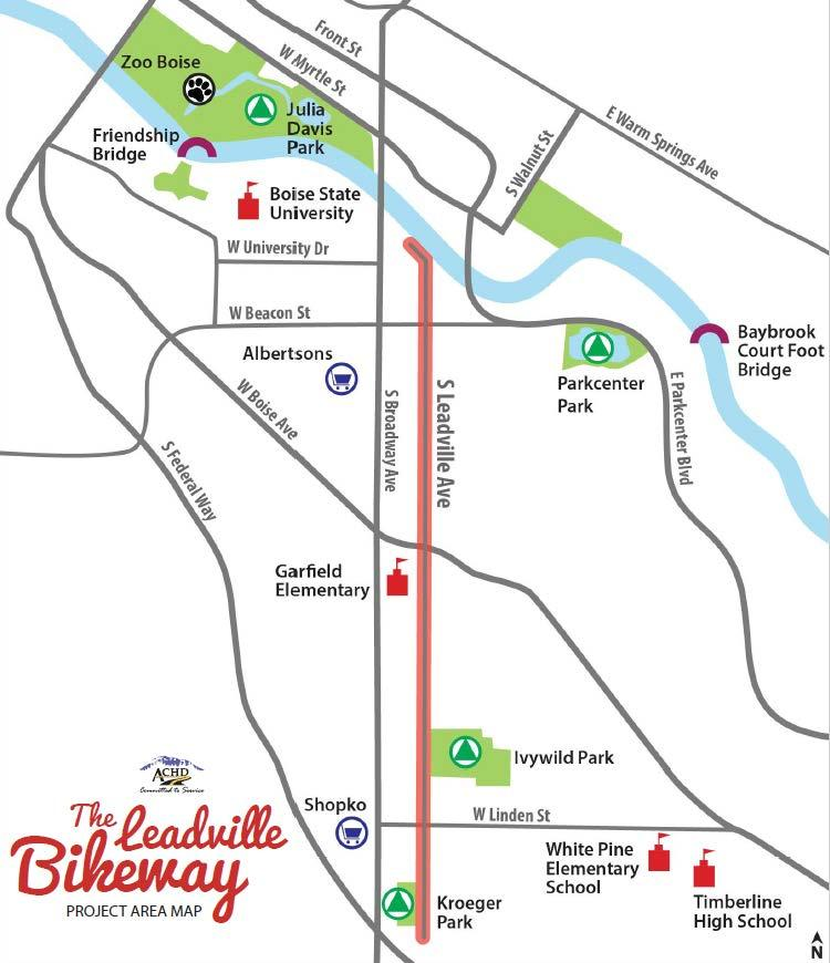 The Leadville Bikeway Design Recommendations DRAFT January 2018 Overview The Leadville Bikeway project aims to create a bikeway that is compatible with and adds value to the neighborhood and