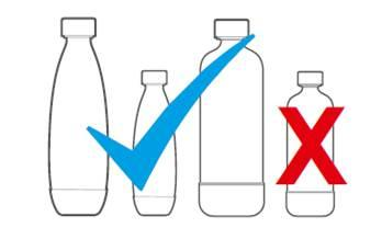 WARNING: DO NOT use a carbonating bottle if changes in shape have occurred, as that indicates the bottle is damaged.