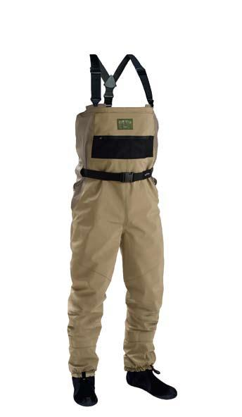 There is no bulk at the waist (unlike with other roll-down waders) and these waders truly feel like waist waders in the rolled-down configuration.