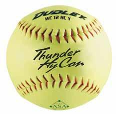ASA Amateur Softball Association Thunder HYCON Item# 4A-066Y Cover: Composite Size: 12 COR:.52 Compression: 300 lbs.