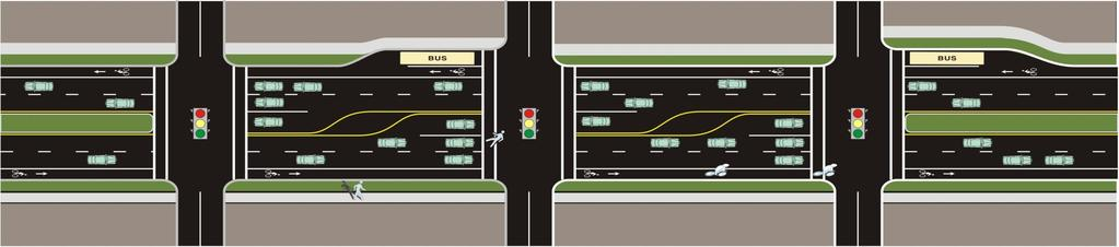 Bicycle LOS: Signalized Intersections Factors included: Width of outside through lane and