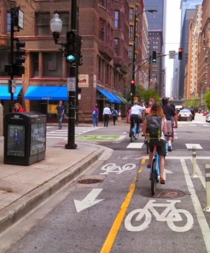 Fully-Protected Bike Lane Bikes