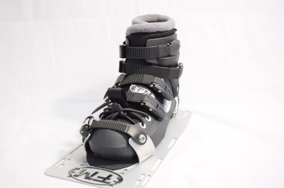 Mount plate so the reference point on the boot is on the desired mark. Ensure the toe center line of the boot is slightly toe out (e.g 1/8 ) and heel is on ski center.