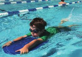 SRD Level 4 Students will learn breaststroke, sidestroke, introduction to butterfly, standing dives, turns at wall, and treading.