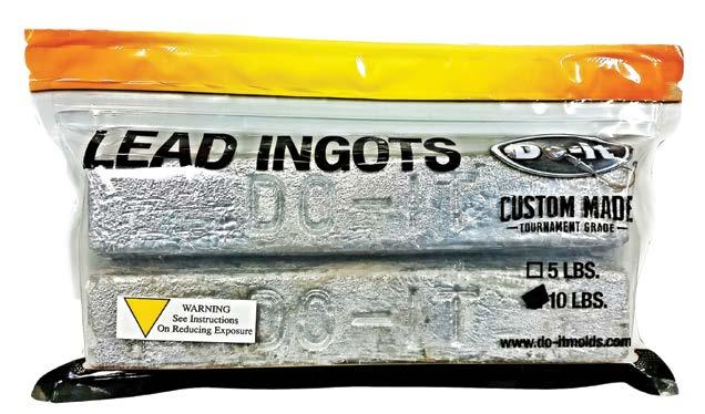 BULK LEAD FROM DO-IT Looking for a reliable source of high quality lead for casting? These ingots are 99.9% pure soft lead. Excellent for those harder to cast jigs and sinkers.
