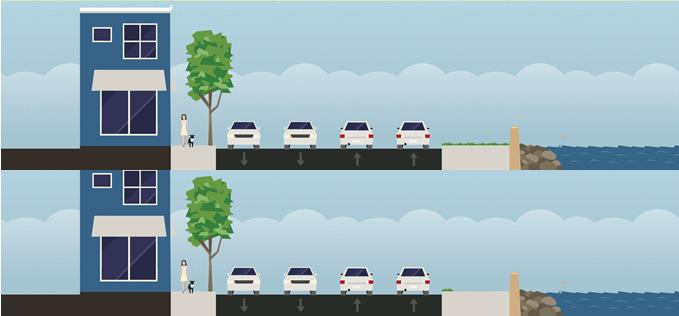 approaches): 100% IDOT On-Road (full bike lanes): 80% IDOT/20% Locals Wide outside lanes or widened