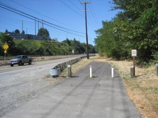 S 102nd St Private road; bridge over the Duwamish River; intersects with E Marginal Way.