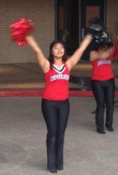 Spirits were high, as students filled the amphitheater, and the Pom Squad celebrated the new school year.