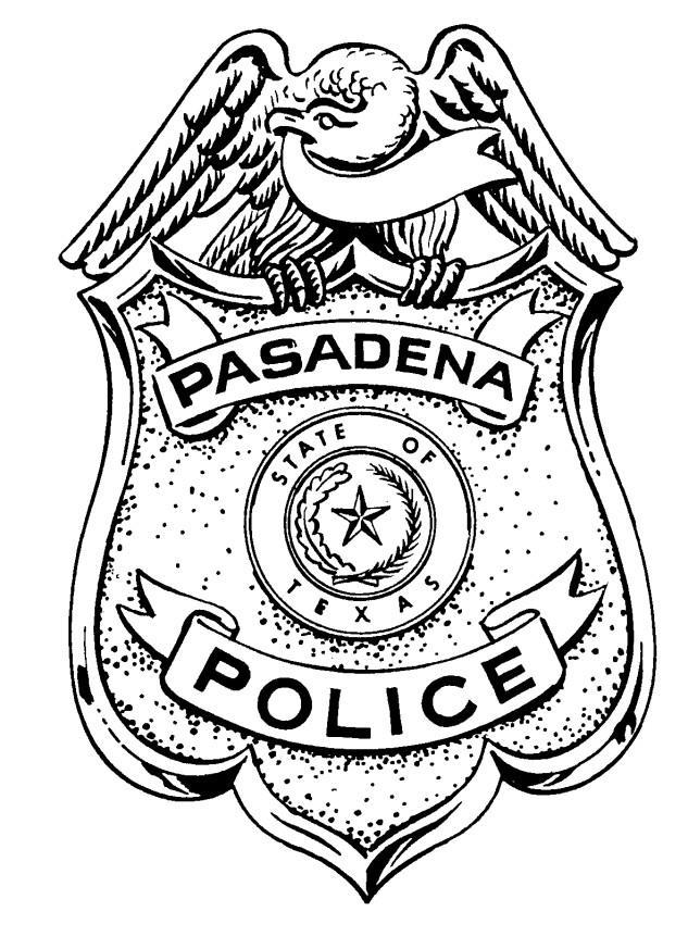 Pasadena Police Academy July-December 2017 In-Service Training Schedule