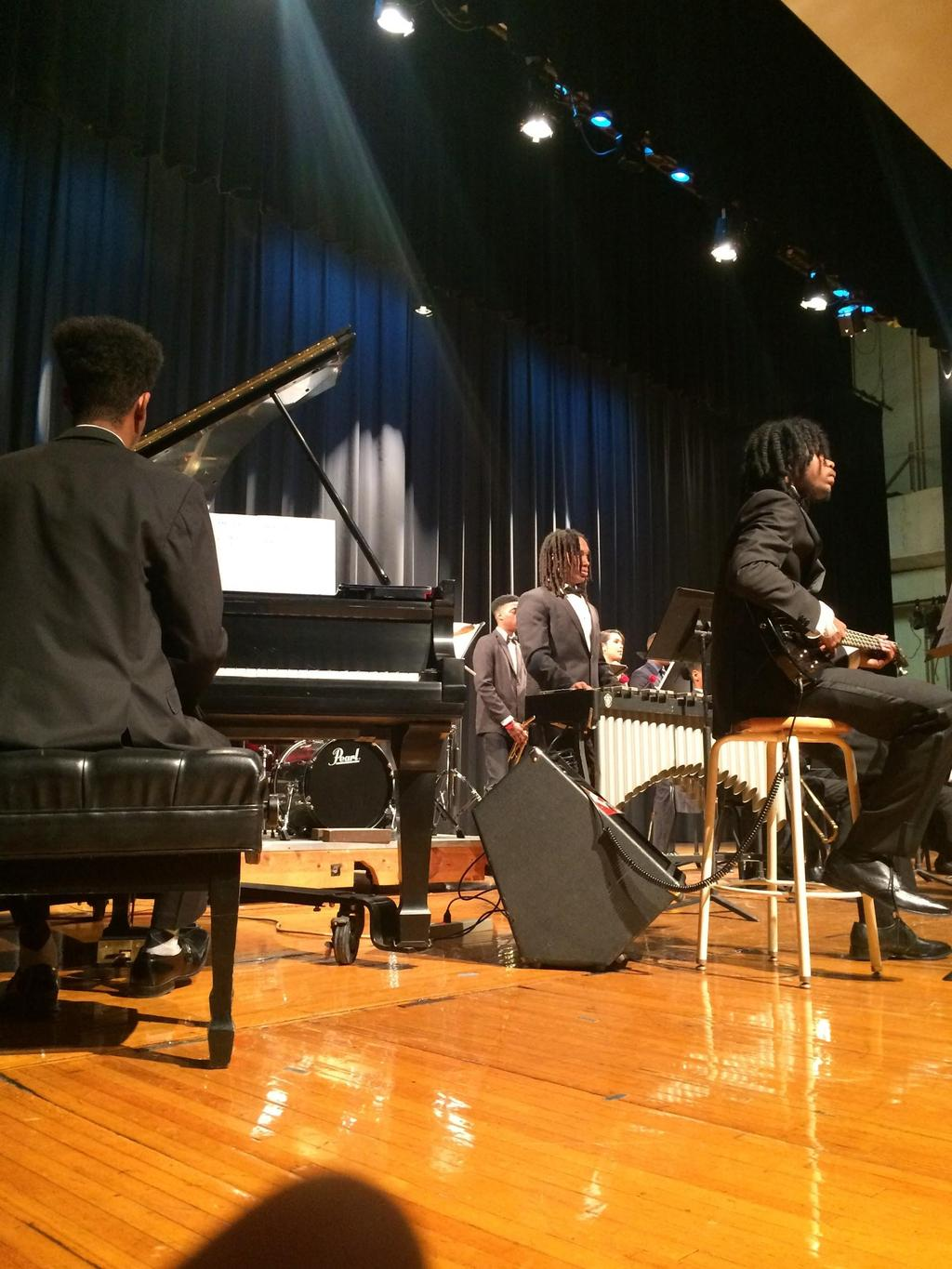 PIANO SOLO AND ENSEMBLE FESTIVAL The following piano majors performed at the Prince George's County Piano Solo & Ensemble Festival. A (1) is the highest possible grade a piano player can receive.