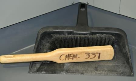 Safety Equipment-Dust Pan & Broom To pick up broken glass or chemical