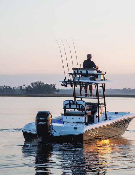 26 Bay Tower Boat Whether chasing tarpon, running channel