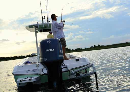 Impress those friends with an abundance of fishing features like the (3) aerated livewells,
