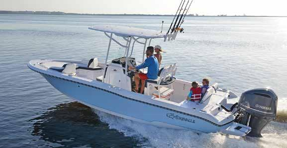 comfortable committing to a day on the water with the fresh water shower and in console