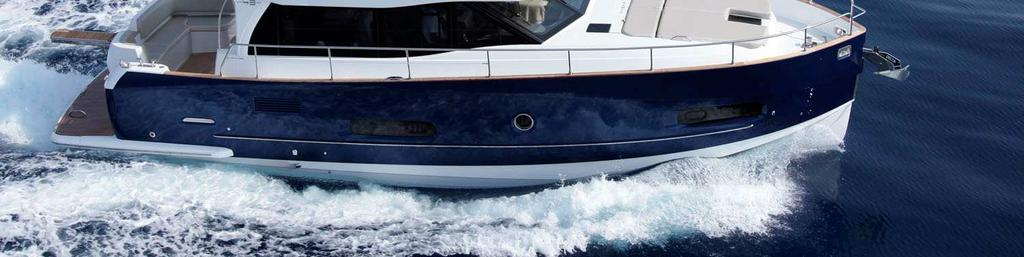 It may store up to 1680 litres of fuel, allowing the boat a significant cruising range at 9 knots, whilst guaranteeing the comfort of a