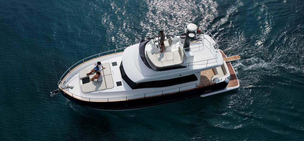 The styling is the result of an ongoing collaboration between Dutch designer Cor D Rover and the Azimut Yachts team, with a special attention to detail - a signature of all top Made in Italy products.