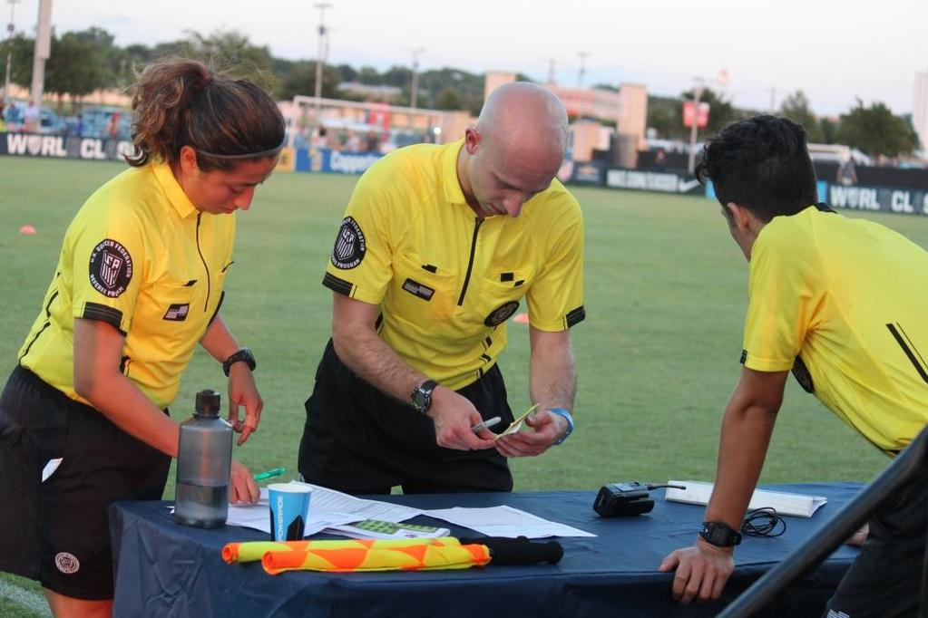 Checking in Players Most teams in competitive youth games will present the referee with rosters.