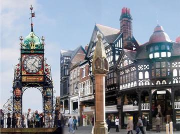 Chester's four main roads, Eastgate, Northgate, Watergate and