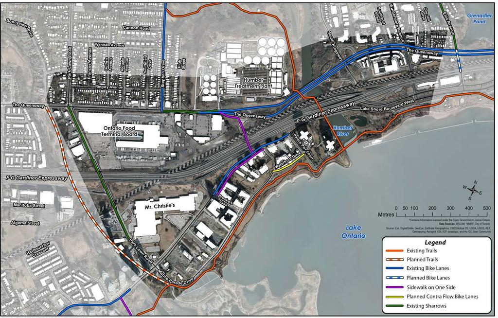 Existing Conditions Active Transportation This map identified trails and cycling infrastructure that are present within