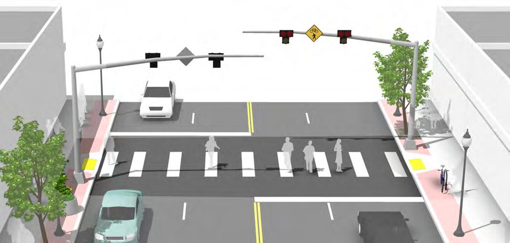 Pedestrian Hybrid Beacon Description Hybrid beacons are used to improve non-motorized crossings of major streets.