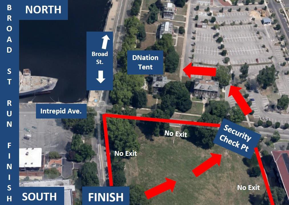 DetermiNation Finish Line Tent Location Located directly across from the marina inside the Navy Yard o ALL spectators must go through security at the Navy Yard Gates.