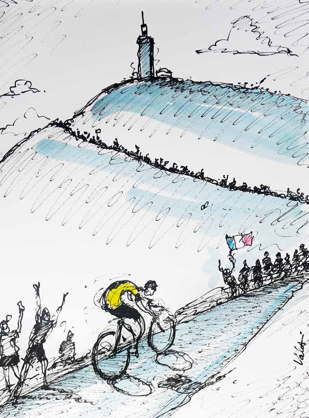Icons Ventoux and many other giants of the cycling world are favorites of mine to draw.