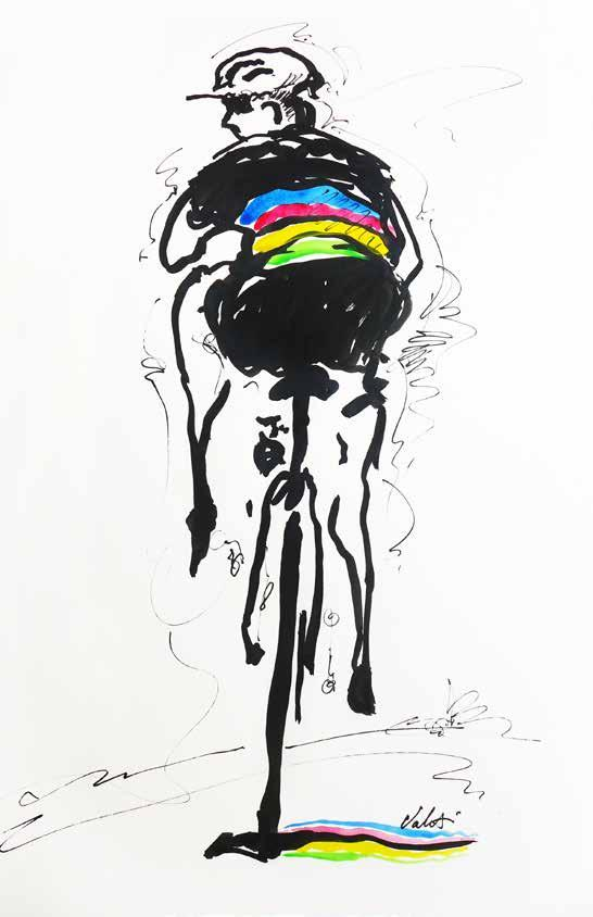 Cycling Artist Michael Valenti has been creating art for advertising and private clients for more than thirty-five years.