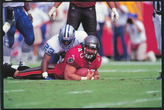 1997 NFC WILD CARD PLAYOFF GAME Sidelines Records History 2010 Review Players Ownership TAMPA In the team s first playoff game in Tampa Bay since the 1979 season, the Buccaneers dominated Detroit