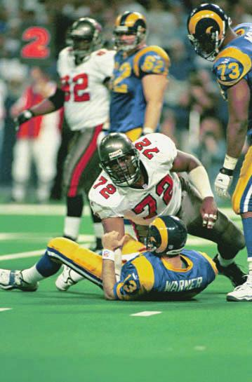 1999 NFC CHAMPIONSHIP GAME ST. LOUIS Tampa Bay held the high-powered Rams in check for nearly 60 minutes, but a late TD pass enabled St.