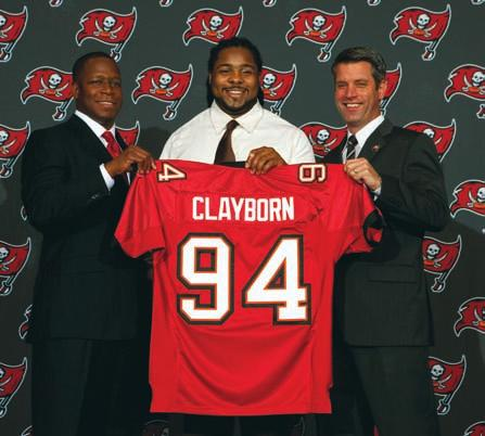 2002 (DRAFTED #21) 1 traded to Oakland for head coach Jon Gruden 2 traded to Oakland (see pick 1) 3 WR Marquise Walker, Michigan 4 RB Travis Stephens, Tennessee 5 S Jermaine Phillips, Georgia 6 DE