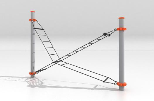Flow Crossing This sculptural form can be used to climb between modules of different heights or may serve as