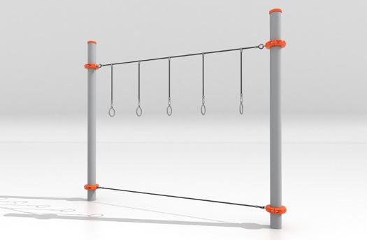 Overhead Challenger Available in Junior and Senior height configurations, the Overhead Challenger contains a blend of solid and flexible rungs.
