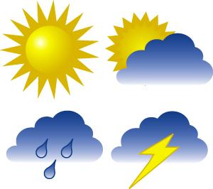Weather is considered as changes in the