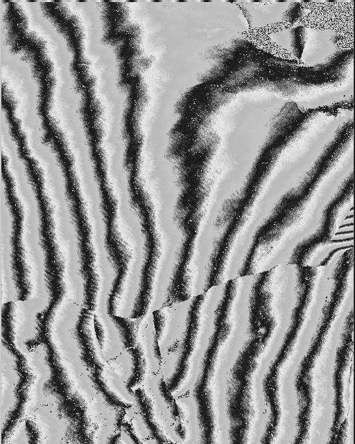 Part Poit Barrow, Alaska Prudhoe Bay: (a) Iterferogram derived from ASF