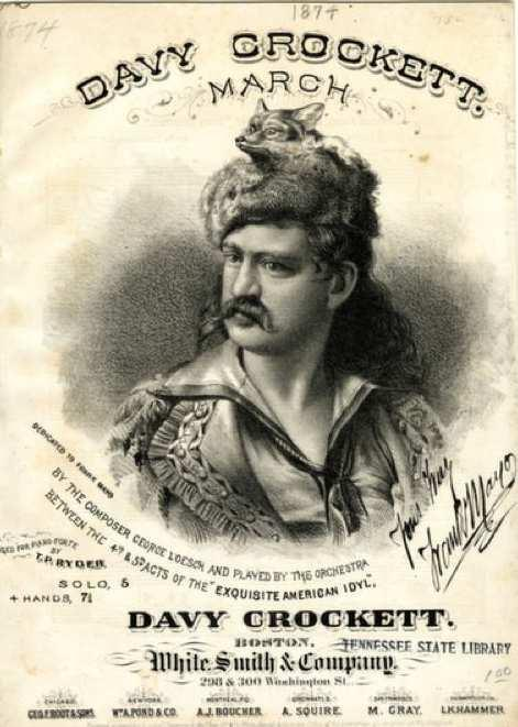 Davy Crockett Known as the King of the Wild Frontier, Crockett became one of the West s biggest folk heroes.