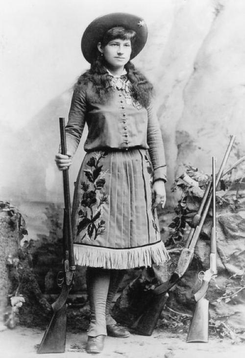 Annie Oakley The Old West was clearly considered a real man s world, but certain women still managed to garner their own level of notoriety and Annie Oakley was perhaps the most famous of them all.