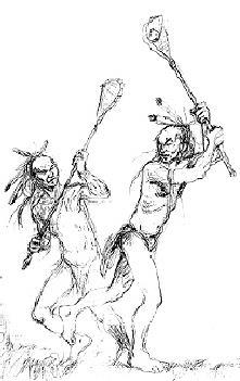LACROSSE HISTORY Lacrosse was a game to prepare the Cherokee Indians for war. The match could spend some days and from 100 to 1000 people could participate during the match.