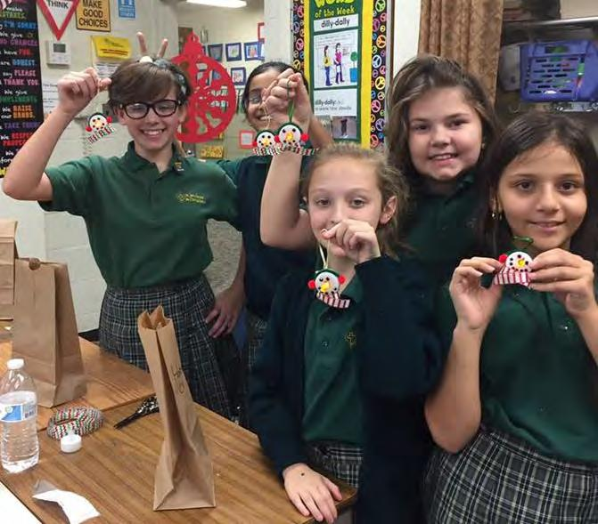 Christmas in the Middle Grades By Meiko Harris-Sivells, Allison DiLollo & Ava Noel Third grade did many fun things for Christmas. They made reindeer pins.