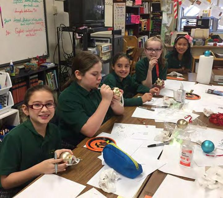 On Wednesday, December 21, they had a Christmas party. They also participated in the Christmas Carol contest. This is when you change the words of a Christmas carol.