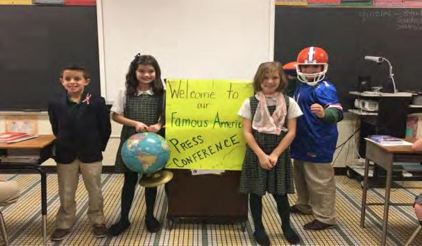 Thrilling Third Grade By Lauren DiLollo Third grade has been learning many exciting things recently. In English they are learning the parts of a letter. They even got to write their own letters!