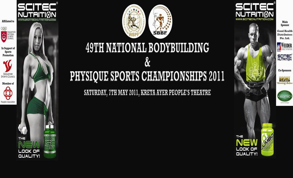 Singapore Bodybuilding and Fitness Federation (SBBF) held its 49th National Bodybuilding and Physique Sports Championships in a grand style by having the current Mr.